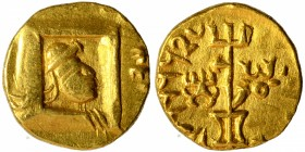 Rare Gold One Quarter Dinar coin of Vima Kadphises of Kushan Dynasty