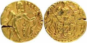 Gold Dinar Coin of Chandragupta III of Gupta Dynasty of Archer type.