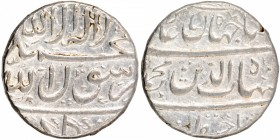 Silver One Rupee Coin of Shahjahan of Gulkonda Mint.