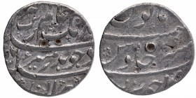 Silver One Rupee Coin of Aurangzeb Alamgir of Junagadh Mint.
