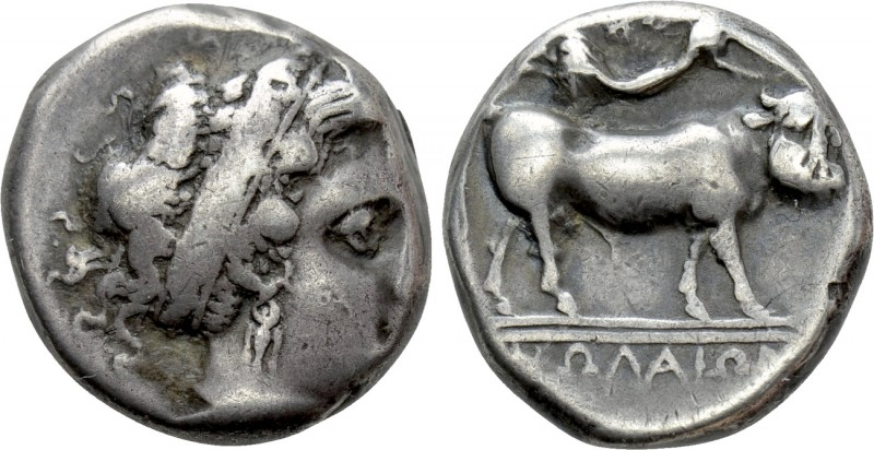 CAMPANIA. Neapolis. Didrachm (Circa 320-300 BC). 