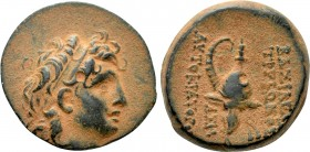SELEUKID KINGDOM. Tryphon (Circa 142-138 BC) Ae Uncertain mint in Northern Syria.