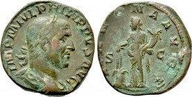 PHILIP I THE ARAB (244-249). Sestertius. Rome.