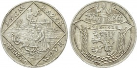 CZECHOSLOVAKIA. Silver Medal (1928). Commemorating the 10th anniversary of the Republic. By Spaniel.
