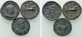 3 Roman Coins; All tooled.