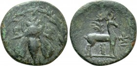 IONIA. Ephesos. Ae (Circa 2nd-1st centuries BC). Uncertain magistrate.