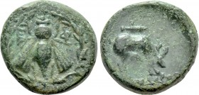 IONIA. Ephesos. Ae (Circa 190-150 BC). Uncertain magistrate.