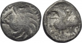 "CENTRAL EUROPE. Vindelici. 1/4 Quinarius (1st century BC). ""Manching 2"" type."