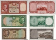 Country : AFGHANISTAN  Face Value : 2, 5 et 10 Afghanis Lot  Date : (1939)  Period/Province/Bank : Bank of Afghanistan  Catalogue reference : P.21a, P...