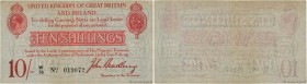 Country : ENGLAND  Face Value : 10 Shillings  Date : (1918)  Period/Province/Bank : Treasury Notes  Catalogue reference : P.348  Alphabet - signatures...