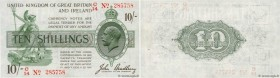 Country : ENGLAND  Face Value : 10 Shillings  Date : (1918)  Period/Province/Bank : Treasury Notes  Catalogue reference : P.350b  Alphabet - signature...
