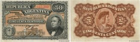Country : ARGENTINA  Face Value : 50 Centavos  Date : 19 juillet 1895  Period/Province/Bank : Banco de la Nacion Argentina  Catalogue reference : P.23...