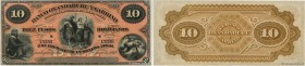 Country : ARGENTINA  Face Value : 10 Pesos Bolivianos Non émis  Date : 02 janvier 1869  Period/Province/Bank : Banco Oxandaburu y Garbino  Catalogue r...