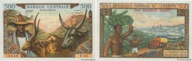 Country : CAMEROON  Face Value : 500 Francs  Date : (1962)  Period/Province/Bank : B.C.E.A.E.C.  Department : République Fédérale du Cameroun  Catalog...