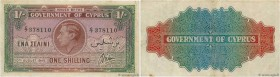 Country : CYPRUS  Face Value : 1 Shilling  Date : 10 août 1945  Period/Province/Bank : Government of Cyprus  Catalogue reference : P.20  Alphabet - si...