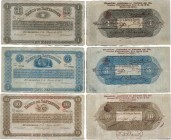 Country : COLOMBIA  Face Value : 1, 5 et 10 Pesos Lot  Date : 06 janvier 1900  Period/Province/Bank : Banco de Santander  Catalogue reference : P..831...