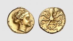 Sicily. Syracuse. 310-305 BC. EL 5 Litrae (0.74g, 11h). Bérend 6, 23 (same dies); Adams 15. Lightly toned. Good very fine. From a European private col...