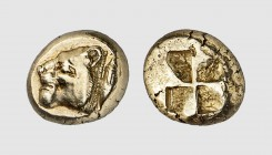 Mysia. Kyzikos. 500-450 BC. EL Hekte (2.65g). Fritze -; Rosen 432. Lightly toned. Well-centered. Extremely fine. From a European private collection