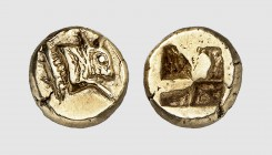 Mysia. Kyzikos. 500-450 BC. EL Hemihekte (1.36g). Fritze -; Rosen -. Ligthly toned. Well-centered. Extremely fine. From a European private collection