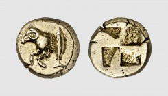 Mysia. Kyzikos. 500-450 BC. EL Hekte (2.67g). Fritze 39; Rosen -. Lightly toned. Perfectly centered and struck. Choice extremely fine. From a European...