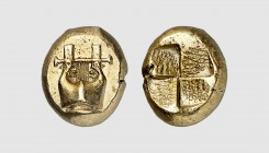 Mysia. Kyzikos. 500-450 BC. EL Hekte (2.62g). Fritze -; Rosen -. Lightly toned. Choice extremely fine. From a European private collection