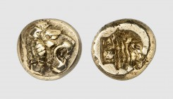 Lesbos. Mytilene. 520-480 BC. EL Hekte (2.56g, 10h). Bodenstedt 13.78 (this coin); SNG von Aulock 1685. Lightly toned. Good very fine. From a European...