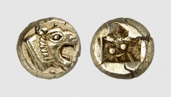 Ionia. Miletos. 550-500 BC. EL Hemihekte (1.16g). Babelon 48a; Classical Numismatic Group 2014 (96) lot 475. Lightly toned. Well-centered. Choice extr...