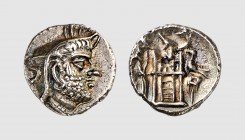 Persis. Uncertain king. 2nd century BC. AR Drachm (4.10g, 12h). Alram 551; Sunrise -. Attractively toned. Extremely fine. From a European private coll...