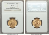 Victoria gold Sovereign 1891-M MS62 NGC, Melbourne mint, KM10. AGW 0.2355 oz,.   HID09801242017  © 2020 Heritage Auctions | All Rights Reserve