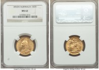 Victoria gold Sovereign 1892-M MS62 NGC, Melbourne mint, KM10. AGW 0.2355 oz.   HID09801242017  © 2020 Heritage Auctions | All Rights Reserve