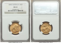 Victoria gold Sovereign 1894-S MS63 NGC, Sydney mint, KM13. Expressing comparatively few surface marks in-line with the grade and full mint brilliance...
