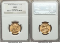 Victoria gold Sovereign 1895-M MS63 NGC, Melbourne mint, KM13. AGW 0.2355 oz.   HID09801242017  © 2020 Heritage Auctions | All Rights Reserve