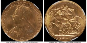 Victoria gold Sovereign 1896-M MS63 NGC, Melbourne mint, KM13. Lustrous and fully choice for the issue. AGW 0.2355 oz.   HID09801242017  © 2020 Herita...