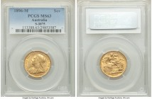 Victoria gold Sovereign 1896-M MS63 PCGS, Melbourne mint, KM13, S-3875. AGW 0.2355 oz.   HID09801242017  © 2020 Heritage Auctions | All Rights Reserve...