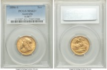 Victoria Sovereign 1896-S MS62+ PCGS Sydney mint, KM13, S-3877. AGW 0.2355 oz.   HID09801242017  © 2020 Heritage Auctions | All Rights Reserve