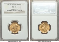 Victoria gold Sovereign 1897-M MS63 NGC, Melbourne mint, KM13. AGW 0.2355 oz.   HID09801242017  © 2020 Heritage Auctions | All Rights Reserve