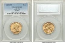 Victoria gold Sovereign 1898-M MS63 PCGS, Melbourne mint, KM13. Choice. Very rarely seen finer.   HID09801242017  © 2020 Heritage Auctions | All Right...