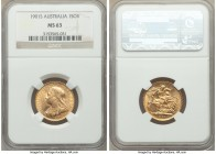 Victoria gold Sovereign 1901-S MS63 NGC, Sydney mint, KM13. AGW 0.2355 oz.   HID09801242017  © 2020 Heritage Auctions | All Rights Reserve