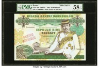Brunei Negara Brunei Darussalam 10,000 Ringgit 1989 Pick 20s KNB20S Specimen PMG Choice About Unc 58 EPQ. An enormous banknote in several ways: size, ...