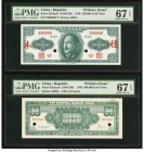 China Central Bank of China 500,000 Yuan 1949 Picks 425Apef; 425Apeb Front and Back Printer's Essays S/M#C302 PMG Superb Gem Unc 67 (2). An interestin...