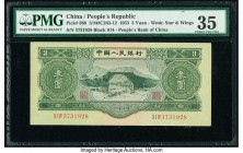 China People's Bank of China 3 Yuan 1953 Pick 868 S/M#C283-12 PMG Choice Very Fine 35. A rarely seen middle denomination from this enormously popular ...