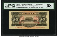 China People's Bank of China 1 Yuan 1956 Pick 871s S/M#C283-40 Specimen PMG Choice About Unc 58. A desirable People's Bank Specimen, this example was ...