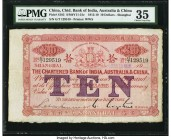 China Chartered Bank of India, Australia & China, Shanghai 10 Dollars 11.3.1919 Pick S185 S/M#Y11-31c PMG Choice Very Fine 35. This enormously popular...