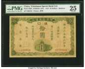 China Yokohama Specie Bank Limited, Hankow 10 Dollars 1.10.1917 Pick S664 S/M#H31-127b PMG Very Fine 25. Highly collectible, this desirable foreign ba...