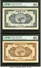 China Patriotic Aviation Bond 5; 10; 50 Dollars 1941 Pick UNL S/M#H4-1; 4-2; 4-3 Trio of Coupons PMG Choice Uncirculated 64 EPQ; Choice Uncirculated 6...