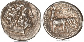SELEUCID KINGDOM. Seleucus I Nicator (312-281 BC). AR tetradrachm (26mm, 17.13 gm, 10h). NGC Choice VF 5/5 - 4/5. Seleucia II (2nd Workshop), from ca....