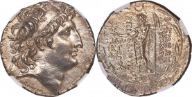 SELEUCID KINGDOM. Antiochus VIII Epiphanes Grypus (121-96 BC). AR tetradrachm (30mm, 16.63 gm, 11h). NGC MS S 5/5 - 4/5. Sidon, dated Seleucid Era 196...