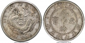Chihli. Kuang-hsü Dollar Year 34 (1908) VF Details (Damage) PCGS, Pei Yang Arsenal mint, KM-Y73.4, L&M-466, Kann-210. Crosslet 4, fancy 3 variety. A n...