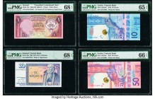 World (Armenia, Aruba, Iceland, Kuwait) Group Lot of 8 Examples PMG Superb Gem Unc 68 EPQ (2); Gem Uncirculated 66 EPQ; Gem Uncirculated 65 EPQ; Crisp...