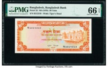 Bangladesh Bangladesh Bank 50 Taka ND (1979) Pick 23 PMG Gem Uncirculated 66 EPQ. Staple holes at issue.   HID09801242017  © 2020 Heritage Auctions | ...